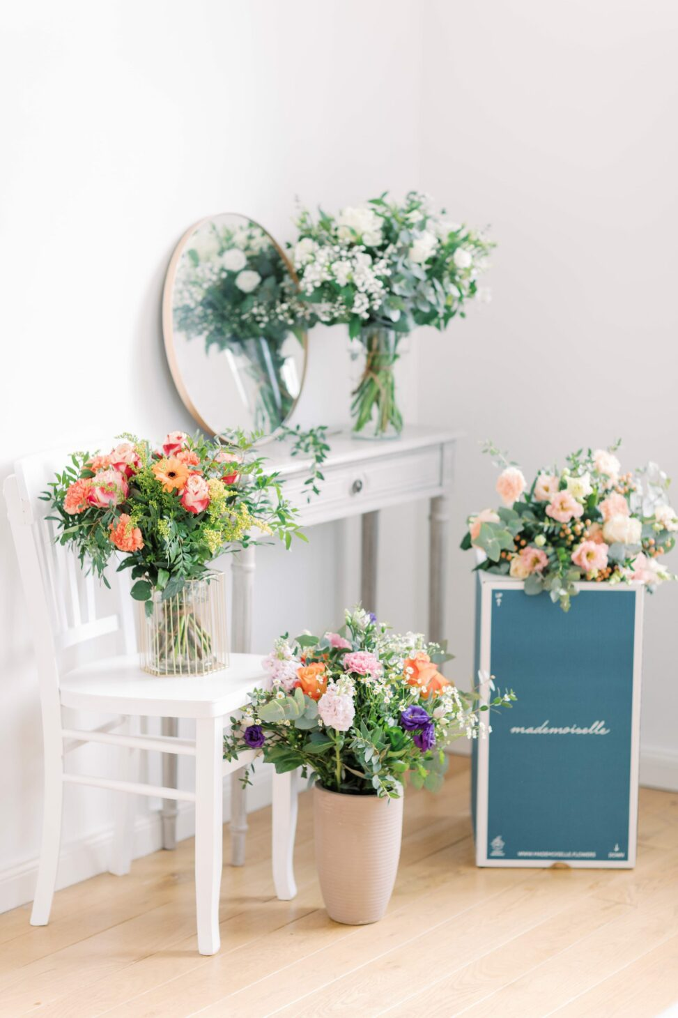 Flower bouquet subscription in Belgium for individuals or companies